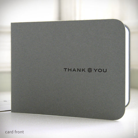 "Men's Slate Grey ""Thank You"" Card (#177) Greeting Card - Inkello Letterpress"