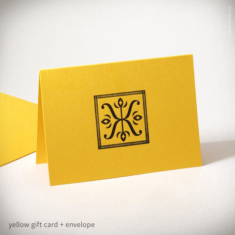 Illuminated X Gift Card (#179) Gift Card - Inkello Letterpress