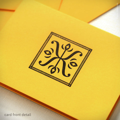 Yellow Illuminated X Gift Card {#179} - Inkello