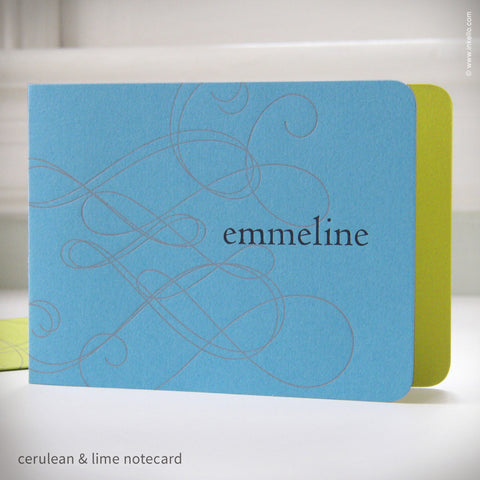 Swirly Personalized Notecards (#192)
