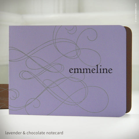 Swirly Personalized Notecards {#192} Stationery - Inkello Letterpress