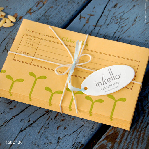 Green Seedling Personalized Seed Envelopes (#205) Seed Envelopes - Inkello Letterpress