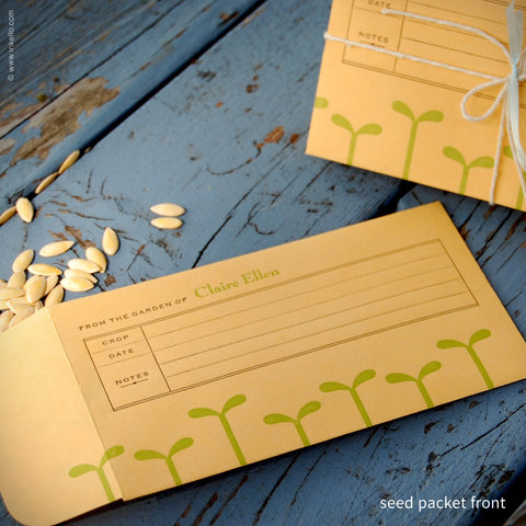 Green Seedling Personalized Seed Envelopes {#205}