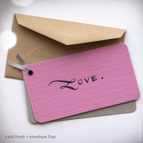 "Pink ""LOVE"" Mini Valentine with Kraft Envelope (#222)"