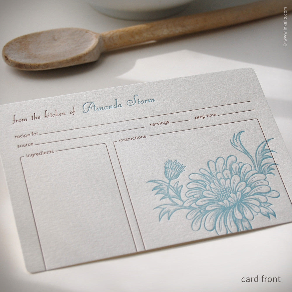 Mum Personalized Recipe Cards (#233) Recipe cards - Inkello Letterpress