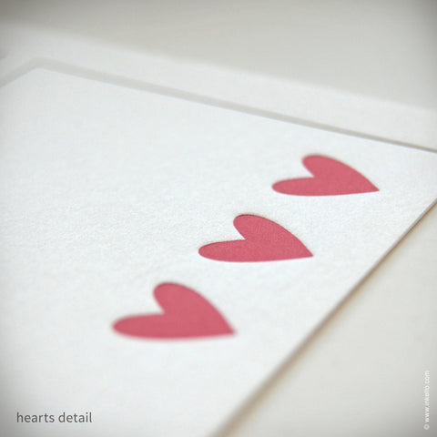 Heart Personalized Recipe Cards (#249) Recipe cards - Inkello Letterpress