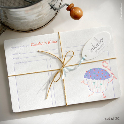 Cupcake Personalized Recipe Cards (#259)