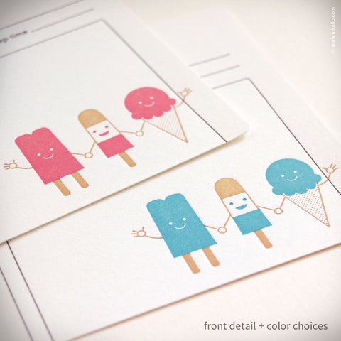 Cool Friends Personalized Recipe Cards (#283) Recipe cards - Inkello Letterpress