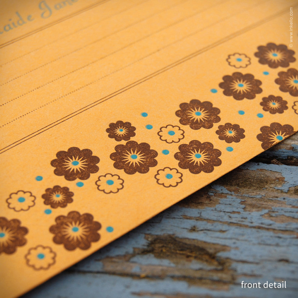 Flower Personalized Seed Envelopes (#288) Seed Envelopes - Inkello Letterpress