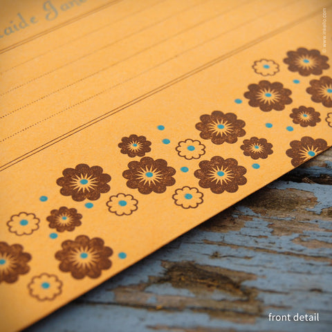 Flower Personalized Seed Envelopes {#288} Seed Envelopes - Inkello Letterpress