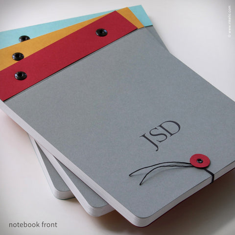Slate Grey Monogram Notebook (#298)