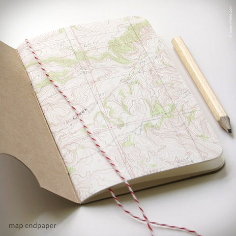 Personalized Map Booklet + Pencil {#299} Booklet - Inkello Letterpress