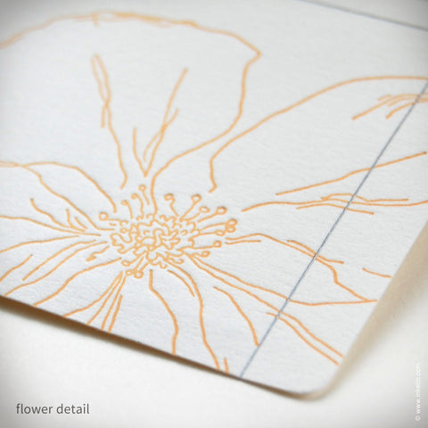 Snow Drop Anemone Personalized Recipe Cards (#307) Recipe cards - Inkello Letterpress
