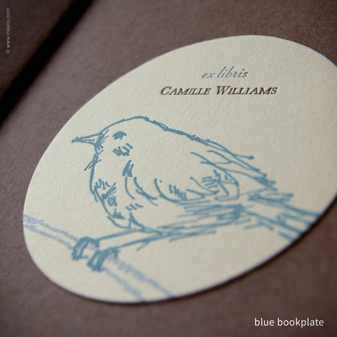 Bird Personalized Bookplates + Beaded Bookmark {#311} - Inkello