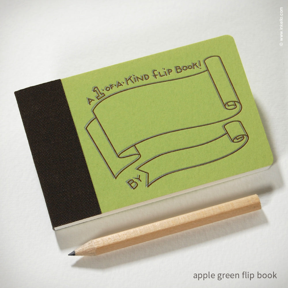 Draw-Your-Own Flip Book + Pencil (#316) Flip book - Inkello Letterpress