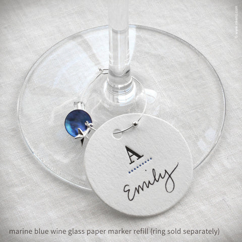 Monogrammed Dotted Wine Glass Marker Refills (#319)