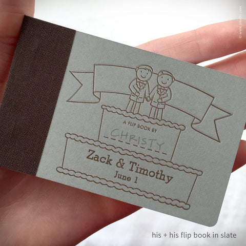 Personalized Wedding Cake Flip Books + Pencil {#324} Flip book - Inkello Letterpress