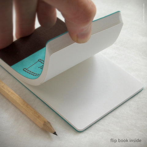 Personalized Wedding Cake Flip Books + Pencil (#324) Flip book - Inkello Letterpress