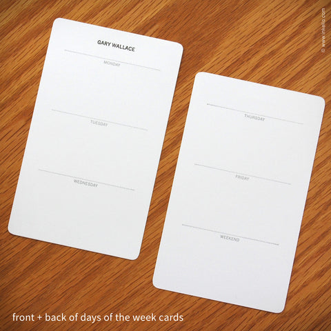Deluxe Personalized Index Cards (#337)