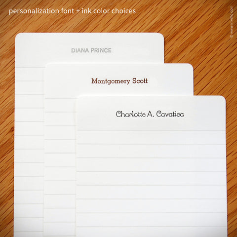 Deluxe Personalized Index Cards {#337} Index cards - Inkello Letterpress
