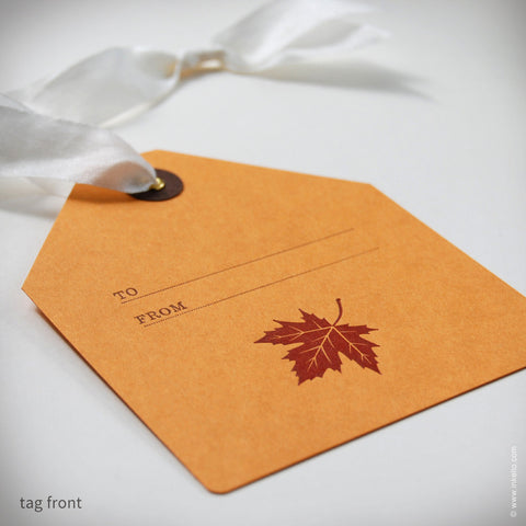 Maple Leaf Gift Tag (#339)