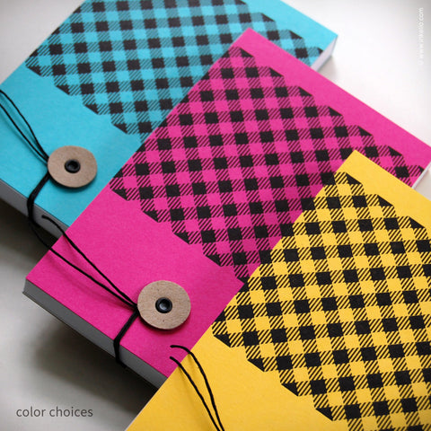 Gingham Notepad {#340} Notepad - Inkello Letterpress