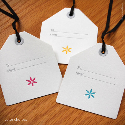 Little Flower Gift Tag {#341} - Inkello