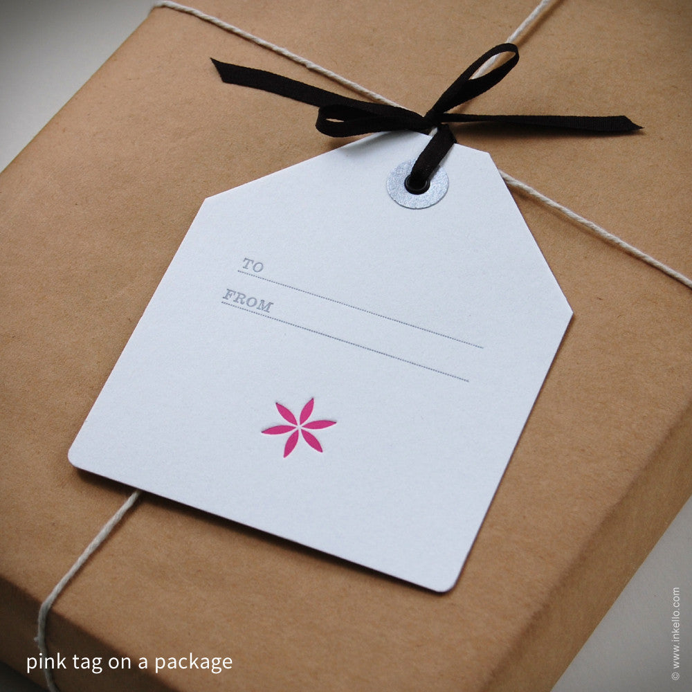 Little Flower Gift Tag {#341} Gift Tag - Inkello Letterpress
