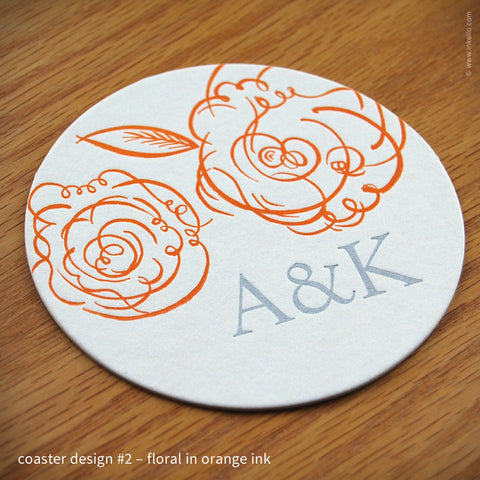 Patterned Monogram Coasters (#344)