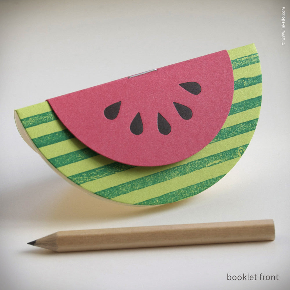 Watermelon Booklets {#351} Booklet - Inkello Letterpress