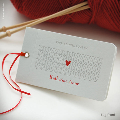 Heart Personalized Knitting Tags (#353)