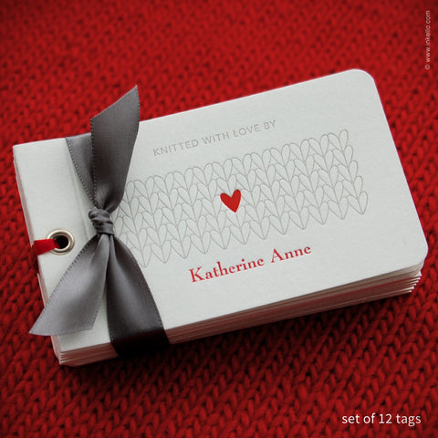 Heart Personalized Knitting Tags {#353} - Inkello