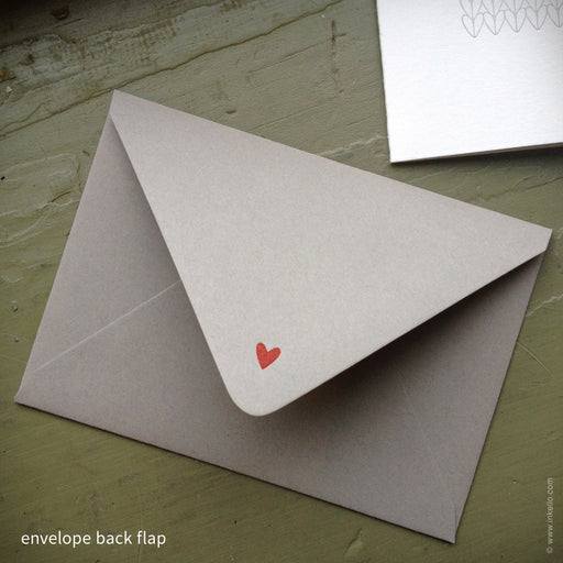 Heart Knitting Note Card (#364) Greeting Card - Inkello Letterpress
