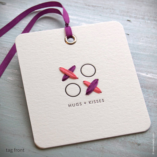 Hugs + Kisses Gift Tag (#366) Gift Tag - Inkello Letterpress