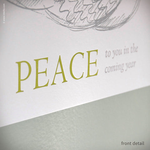 "Dove ""Peace"" Hangable Greeting Card {#405} - Inkello"