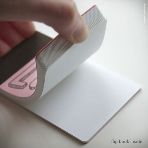 Love Story Flip Book + Pencil {#406} Flip book - Inkello Letterpress
