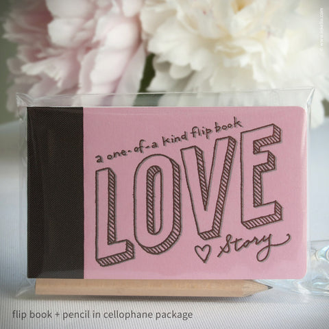 Love Story Flip Book + Pencil (#406) Flip book - Inkello Letterpress