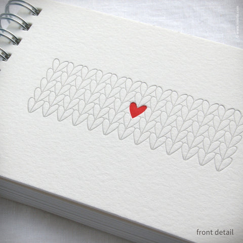 Heart Knitting Spiral Notebook (#410) Notebook - Inkello Letterpress