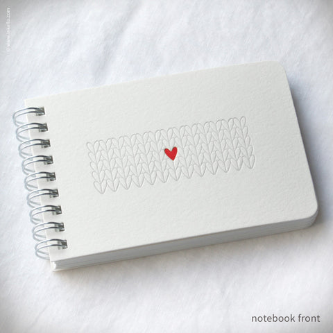Heart Knitting Spiral Notebook (#410)