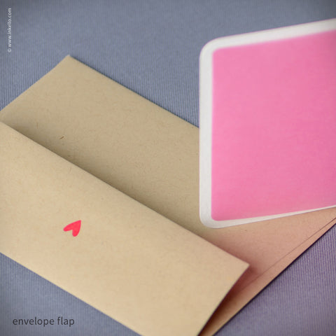 Pink Heart with Silver Arrow Card {#415} Greeting Card - Inkello Letterpress