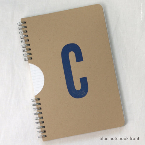 Monogram Spiral Notebook with Kraft Cover (#450)