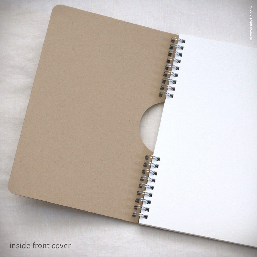 Monogram Spiral Notebook with Kraft Cover (#450) Notebook - Inkello Letterpress