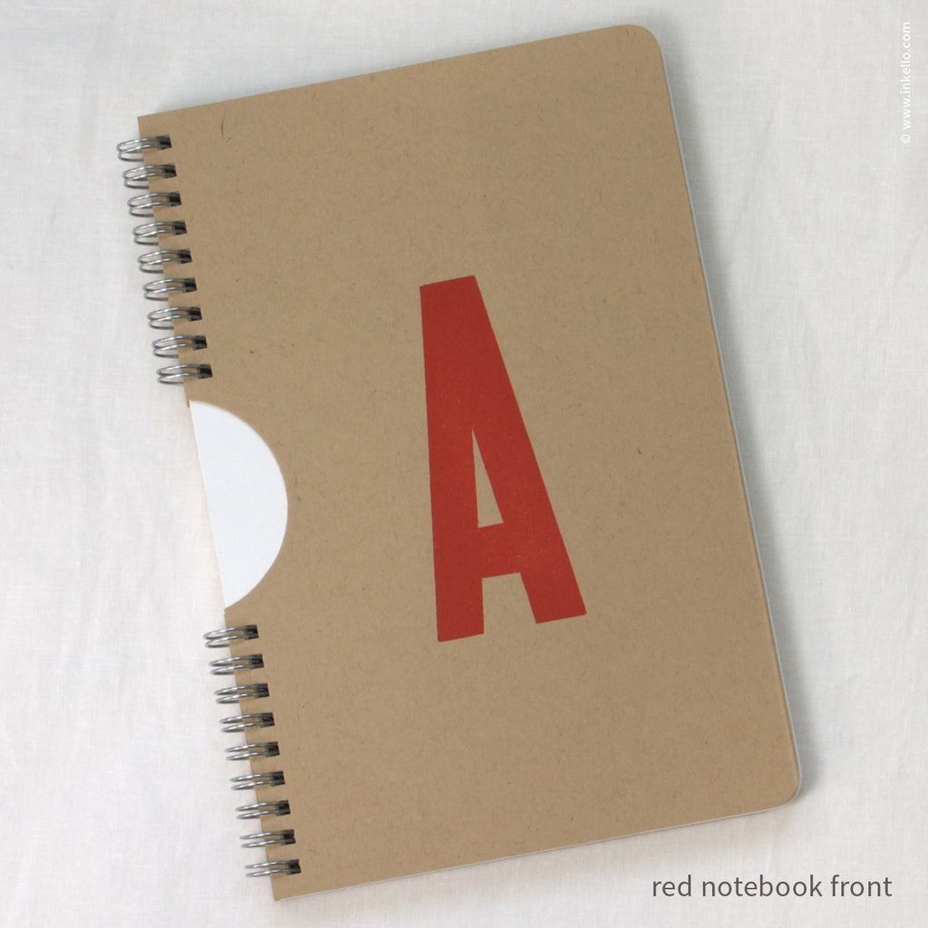 Monogram Spiral Notebook with Kraft Cover {#450} - Inkello