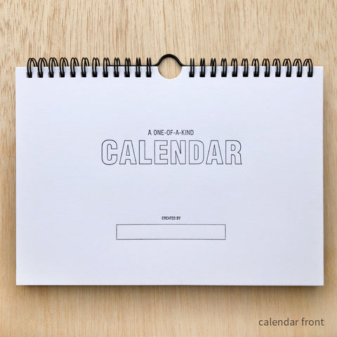 Draw-Your-Own Monthly Hanging Calendar (#452)