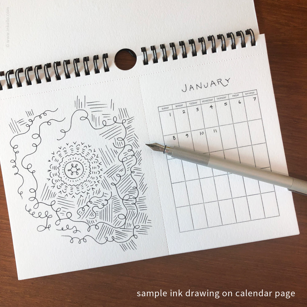 draw your own monthly hanging calendar 452 inkello