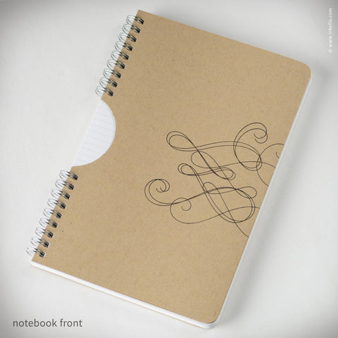 Kraft Swirl Spiral Notebook (#456)