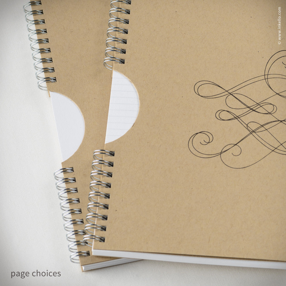 Kraft Swirl Spiral Notebook (#456) Notebook - Inkello Letterpress