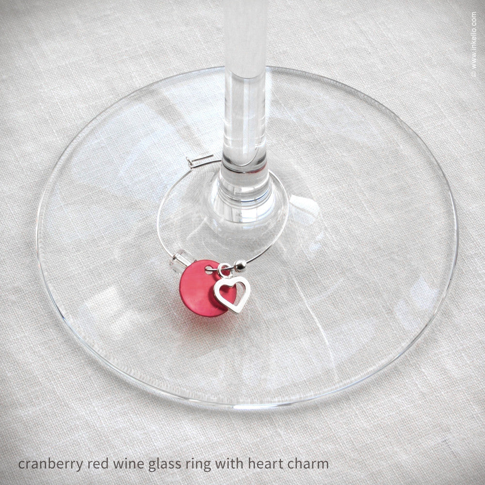 Set of 6 Wine Glass Marker Rings {#460} - Inkello