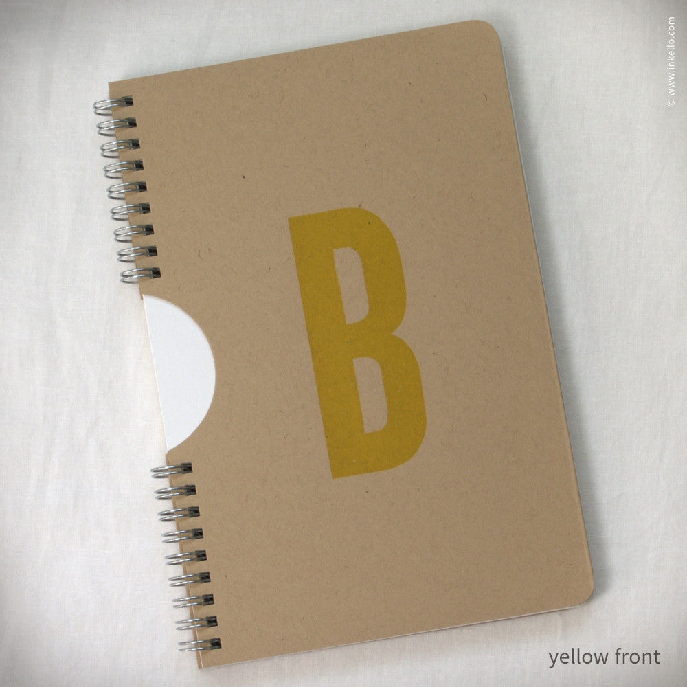 Monogram Notebook + Jotter Set (#463) Notebook + Jotter Set - Inkello Letterpress