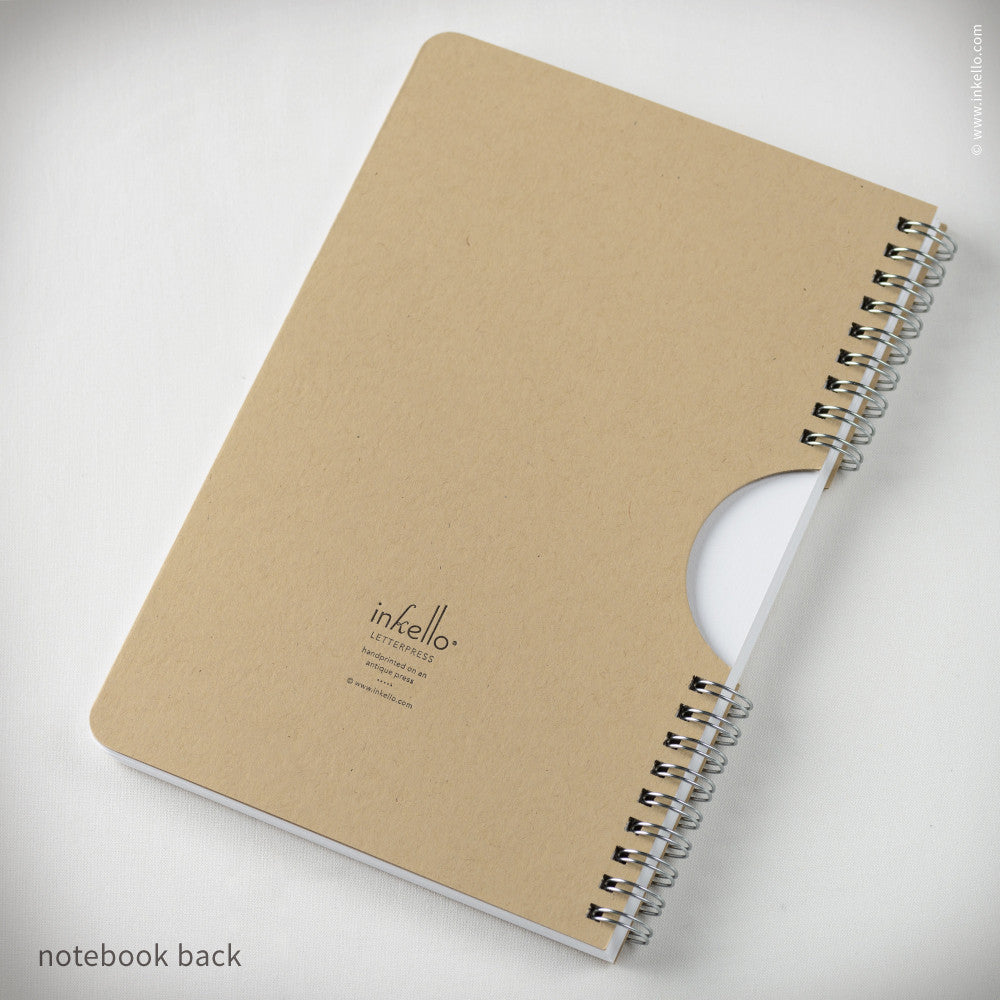 Kraft Star Spiral Notebook (#464) Notebook - Inkello Letterpress